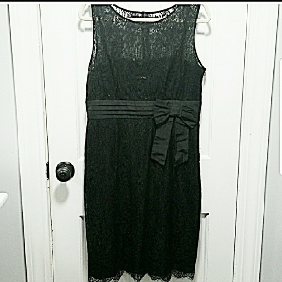 Tahari Dresses & Skirts - Sparkly black lace cocktail dress.